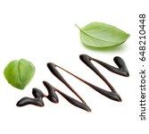 balsamic vinegar cream and... | Shutterstock . vector #648210448