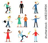 people angry  dissatisfied ...   Shutterstock .eps vector #648210904