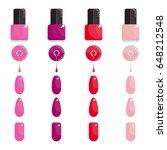 set of bright bottle nail...   Shutterstock .eps vector #648212548