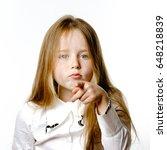 cute little girl posing for... | Shutterstock . vector #648218839