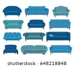 sofa and couches colorful... | Shutterstock .eps vector #648218848