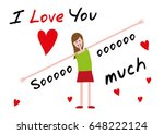 i love you  i love you so much. ... | Shutterstock .eps vector #648222124