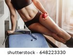 the gym on the background of... | Shutterstock . vector #648223330