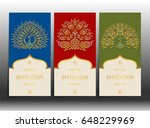 invitation card templates with...   Shutterstock .eps vector #648229969