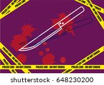 linear art of a knife with... | Shutterstock .eps vector #648230200