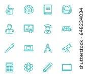 set of 16 education outline... | Shutterstock .eps vector #648234034