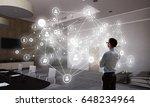 social networking technologies .... | Shutterstock . vector #648234964