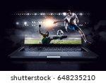 football hottest moments. mixed ... | Shutterstock . vector #648235210