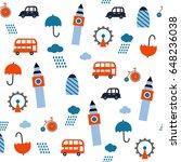 geometric london seamless... | Shutterstock .eps vector #648236038
