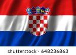croatian flag | Shutterstock . vector #648236863