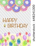 happy birthday greeting card ... | Shutterstock .eps vector #648241300
