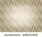 the vintage ornamental old... | Shutterstock . vector #648242500