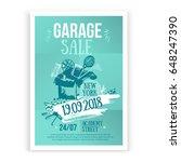 print garage sale poster design ...   Shutterstock .eps vector #648247390