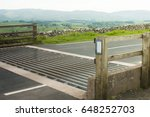 Cattle Grid On Country Road