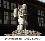 Old Japanese Sculpture In Fron...
