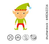 christmas elf icon | Shutterstock .eps vector #648262216