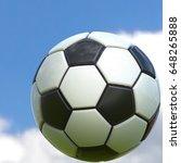 soccer ball. 3d illustration.... | Shutterstock . vector #648265888