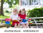 children go back to school.... | Shutterstock . vector #648266614