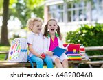 children go back to school.... | Shutterstock . vector #648280468