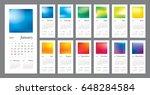 wall calendar for 2018 year.... | Shutterstock .eps vector #648284584
