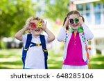 children go back to school.... | Shutterstock . vector #648285106