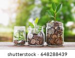 plant growing coins in glass ... | Shutterstock . vector #648288439