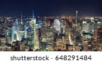 new york city midtown skyline... | Shutterstock . vector #648291484