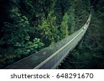 capilano suspension bridge in... | Shutterstock . vector #648291670
