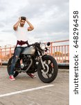 handsome rider man with beard... | Shutterstock . vector #648296458