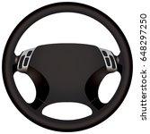 a modern car steering wheel for ... | Shutterstock .eps vector #648297250