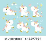 vector illustration of cute... | Shutterstock .eps vector #648297994