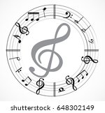 music note background | Shutterstock .eps vector #648302149