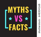 myths vs facts. badge with... | Shutterstock .eps vector #648304168