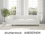white room with sofa and green... | Shutterstock . vector #648305404