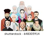 great philosophers and writers | Shutterstock .eps vector #648305914