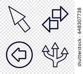 point icons set. set of 4 point ...