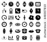 dial icons set. set of 36 dial... | Shutterstock .eps vector #648307810