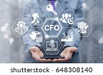 cfo   chief financial officer... | Shutterstock . vector #648308140