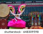 korean traditional dance | Shutterstock . vector #648309598