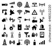 Signal Icons Set. Set Of 36...