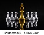 chess leadership concept with... | Shutterstock . vector #648312304