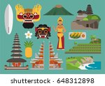 indonesia illustration  bali... | Shutterstock .eps vector #648312898