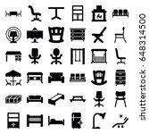 furniture icons set. set of 36... | Shutterstock .eps vector #648314500