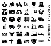 delivery icons set. set of 36... | Shutterstock .eps vector #648314503