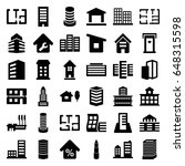 apartment icons set. set of 36... | Shutterstock .eps vector #648315598