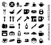 breakfast icons set. set of 36... | Shutterstock .eps vector #648315646