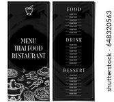 menu thai food restaurant... | Shutterstock .eps vector #648320563