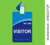 visitor pass card security in... | Shutterstock .eps vector #648322729