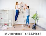 couple renovating apartment   Shutterstock . vector #648324664