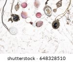 great set of jewelry for women. ... | Shutterstock . vector #648328510